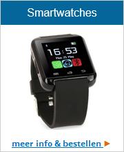 Smartwatch in diverse kleuren. Klik hier voor het complete aanbod